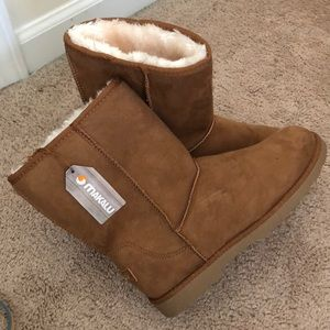 Makalu brown fur boots
